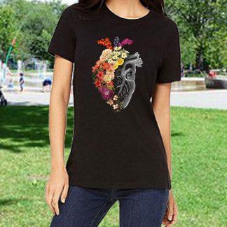 Черни тениски с цветен печат