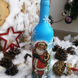 Коледна бутилка вино и шампанско